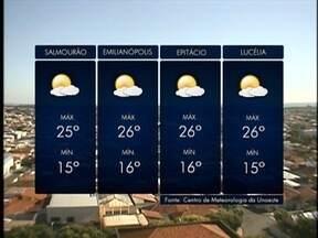 Temperaturas voltam a subir na região de Presidente Prudente - Confira a previsão da meteorologia para esta quinta-feira (15).