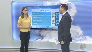 Previsão de temperatura baixa e tempo seco em toda a região de Ribeirão Preto - Em Franca (SP), termômetros podem marcar até 24ºC.