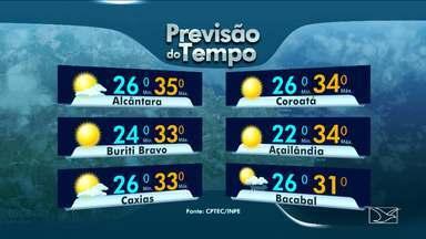 Previsão do tempo para esta segunda-feira (19) para o Maranhão - Previsão do tempo para esta segunda-feira (19) para o Maranhão.