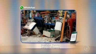 Motorista é preso por embriaguez ao volante após carro invadir supermercado - Um motorista foi preso por embriaguez ao voltante após o carro que dirigia invadir um supermercado na região central de Salto de Pirapora (SP) na madrugada deste domingo (18).