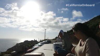 #CaliforniaOnboard: Confira os bastidores da gravação da equipe em cima do motorhome - Imagem da equipe em cima do motorhome finalizou matéria do Esporte Espetacular.
