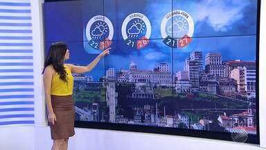 Previsão do tempo: Salvador deve ter fim de semana de tempo instável - Já em Andorinhas, no centro norte, o problema é a falta de chuvas. Município teve a situação de emergência reconhecida pelo governo federal.