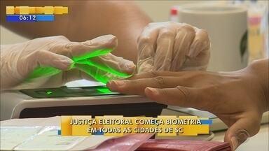 Todas as cidades de SC terão cadastramento biométrico a partir desta segunda-feira (3) - Todas as cidades de SC terão cadastramento biométrico a partir desta segunda-feira (3)