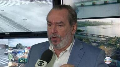 Presidente da Urbana-PE fala sobre greve dos rodoviários no Grande Recife - No segundo dia de greve, frota de ônibus nas ruas chegou a 27%