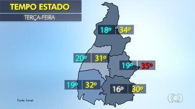 Confira a previsão do tempo em todo o estado nesta terça-feira (4) - Confira a previsão do tempo em todo o estado nesta terça-feira (4)
