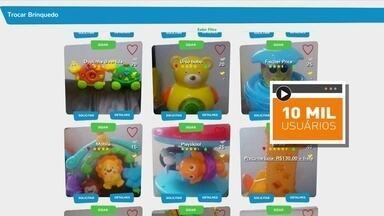 Empresário cria plataforma para troca de brinquedos usados - Brinquedo é trocados por moedas que permitem escolher outro brinquedo. Site já tem 10 mil usuários cadastrados e 300 brinquedos disponíveis.