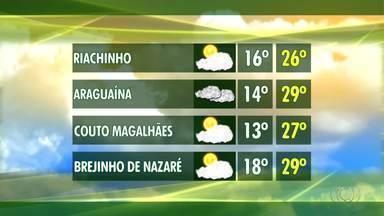 Confira a previsão do tempo para a semana no Tocantins - Confira a previsão do tempo para a semana no Tocantins
