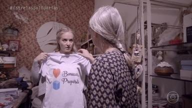 Angélica veste a camisa do Bonecas de Propósito - Hora de colocar a mão na massa!