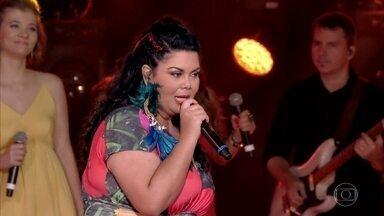 """Fabiana Karla é a primeira a se apresentar no 'PopStar' - Confira a apresentação da atriz com a música """"Frevo Mulher"""""""