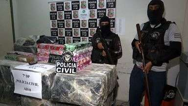 Sorveteria em Fortaleza era usada para vender drogas - Casal foi preso com 370 quilos de maconha.