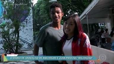 Confira o diário de gravação de Ana Hikari e Juan Paiva - Atores formam o casal Tinderson de 'Malhação' e já conquistaram o público que torce pela aceitação do namoro dos personagens