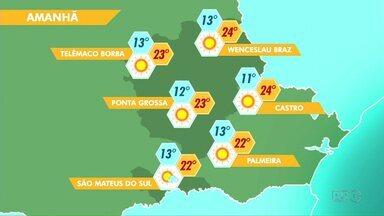 O tempo segue estável na região - O sol predomina e as temperaturas sobem no período da tarde.