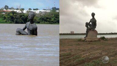 Nível do Rio São Francisco preocupa moradores de Juazeiro, no norte do estado - Não chove forte há mais de dois anos na região; veja.