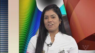 Maurine, das Sereias da Vila, participa do Tribuna Esporte - Confira a entrevista com a jogadora.