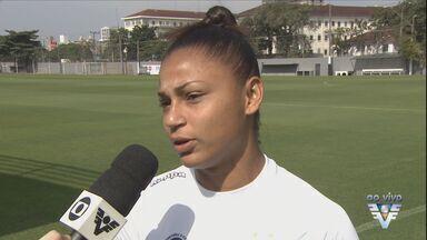 Jogadora Maria Alves fala da vitória das Sereias da Vila - Time feminino do Santos bateu recorde de público.