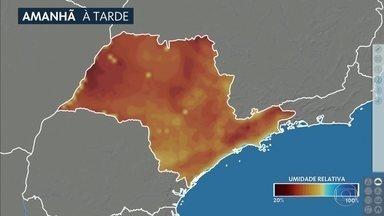 Confira a previsão do tempo para o sábado (15) em São Paulo - Tempo firme, céu sem nuvens, tudo indicando para mais uma tarde de umidade relativa do ar baixa.