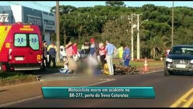 Motociclista morre em acidente na BR-277, em Cascavel - Vítima trabalhava nos Correios e chegou a ser socorrido.