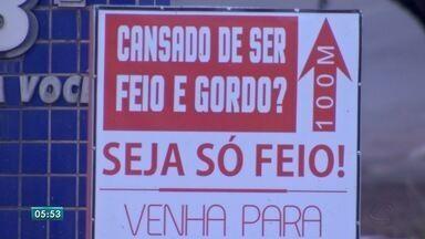 Academia é autuada por propaganda discriminatória em Campo Grande - O proprietário do local tem 10 dias para a defesa. Ele não foi localizado pela reportagem. Conforme o superintendente Marcelo Salomão, ele ainda não se pronunciou.