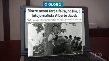 Morre o fotojornalista Alberto Jacob, aos 84 anos - Alberto estava internado há 15 dias em um hospital particular na Barra, para tratar uma pneumonia agravada por um câncer. Ele começou a trajetória profissional em 1953, aos 20 anos.