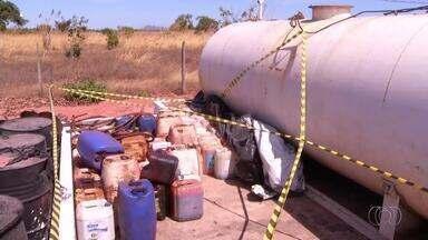 Quatro pessoas são presas na BR-153 suspeitas de furtar combustível - Quatro pessoas são presas na BR-153 suspeitas de furtar combustível