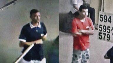 Polícia divulga imagens de suspeitos de assalto a ônibus e pede ajuda no ES - Qualquer informação sobre esses dois suspeitos pode ser repassada pelo Disque Denúncia, no telefone 181.