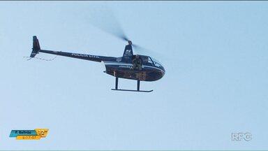Setenta policiais e um helicóptero são usados em operação em Maringá - A operação era para combater o tráfico de drogas.