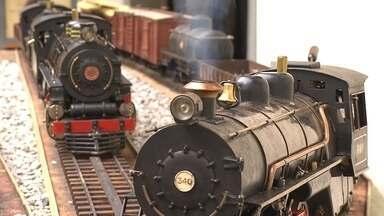 Conheça profissional que se dedica à arte do ferromodelismo - Ele faz peças pequenas como se fossem trens de verdade.