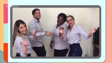 Internautas mandam seus vídeos e participam da abertura do 'É de Casa' - Quer participar? Mande seu vídeo para o gshow.com