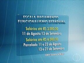 Governo do Estado divulga nova escala de pagamento para agosto e setembro - Salários até R$3 mil são pagos de uma vez em setembro.