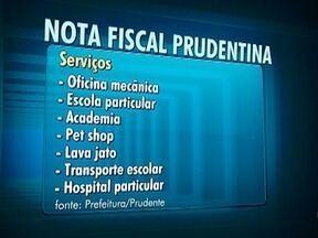 Moradores de Presidente Prudente já podem solicitar a nota fiscal prudentina - Ela é válida para serviços contratados.