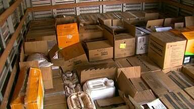 Carga de agrotóxico roubada de cooperativa é recuperada - Segundo a polícia, o agrotóxico seria levado para outros estados.