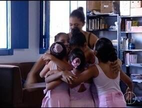 Bailarina de Montes Claros inscrita na Escola do Teatro Bolshoi passa férias na cidade - Garota aproveitou para matar a saudade das coleguinhas de balé.