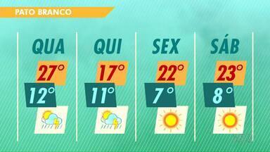 Temperaturas diminuem nos próximos dias em Pato Branco - A mínima será de sete graus na sexta-feira.