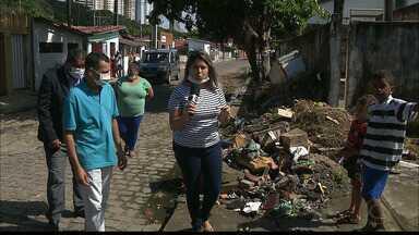 Calendário JPB volta ao bairro de Manaíra - Moradores continuam sofrendo com esgoto que corre ao ar livre pelas ruas.