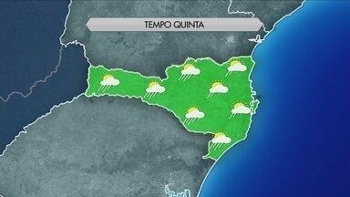 Confira a previsão do tempo para Santa Catarina nesta quinta-feira (3) - Confira a previsão do tempo para Santa Catarina nesta quinta-feira (3)