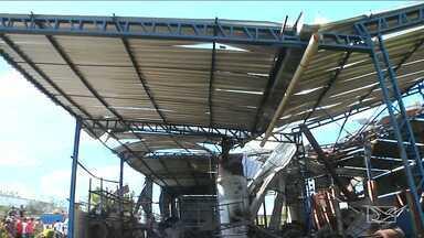 Imagens do câmeras devem ajudar a solucionar acidente em vulcanizadora no Maranhão - Mais de dez operários trabalhavam na hora da explosão da caldeira. Dono do local ainda vai ser ouvido pela polícia.