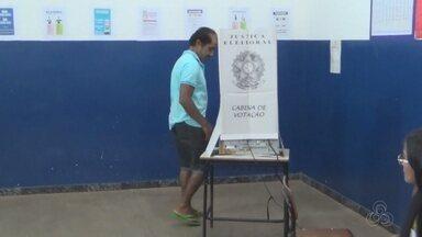 Eleitores votam em municípios do interior do AM - Eleição para escolha do novo governador foi neste domingo.