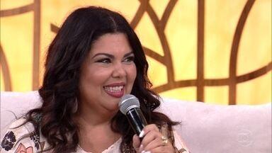 Fabiana Karla fala sobre o desafio de cantar Madonna no 'PopStar' - Atriz não descarta carreira na música e se apresenta no palco do 'Encontro'