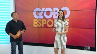 Globo Esporte dá as boas vindas à nova apresentadora - Veja na reportagem do esporte no Bahia Meio Dia.