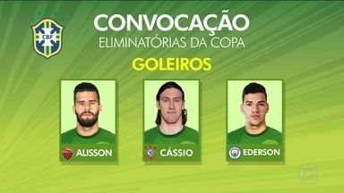 Cássio e Luan são as novidades de Tite na Seleção - Treinador convocou 23 jogadores para os jogos contra Equador e Colômbia
