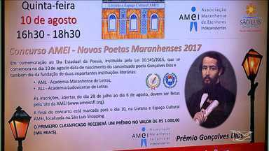 Lançado concurso literário de poesia em homenagem a Gonçalves Dias - Lançado concurso literário de poesia em homenagem a Gonçalves Dias