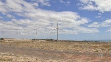 Faixa litorânea do Ceará é atingida por rajadas mais fortes de vento. - Fenômeno acontece por conta do fim do período de chuvas.