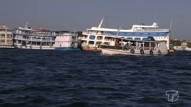 Bancos de areia representam riscos para embarcações durante a vazante dos rios na região - Período da vazante requer atenção e cuidados especiais, diz Capitania Fluvial.