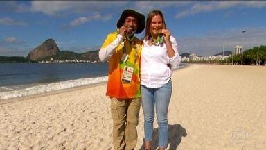 Voluntários de ouro: Rui Candeia trabalhou no ouro de Martine Grael e Kahena Kunze - Rui era responsável por tirar e colocar os barcos na água.