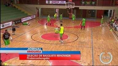 Seleção brasileira de basquete treina em Pinda - Time é quase todo novo.