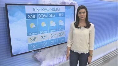 Termômetros devem marcar 34ºC neste final de semana em Ribeirão Preto - Clima continua seco e umidade relativa do ar cai ainda mais.