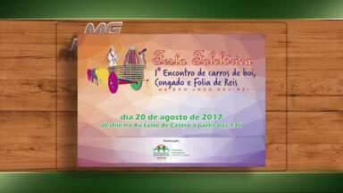 Confira os eventos rurais no Campo das Vertentes e Triângulo Mineiro - Cartazes enviados para nossa redação fazem convite para eventos.
