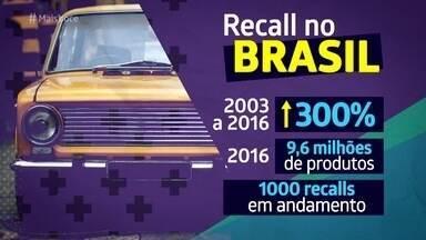Saiba como funciona a lei do recall - O tipo de recall mais conhecido é para corrigir problemas de fabricação de veículos, mas o recall existe para qualquer produto que apresente defeito e precise de substituição. A baixa adesão ao recall no Brasil ainda é um grande problema