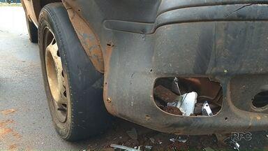 Pneu careca pode ter sido causa de acidente em Maringá - Polícia Militar fala sobre as penalidades pra quem anda com veículo sem manutenção