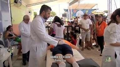 Fortaleza tem manhã de Ação Global com diversos serviços gratuitos - Visitantes tiveram aulas, dicas de saúde e praticaram atividades físicas.